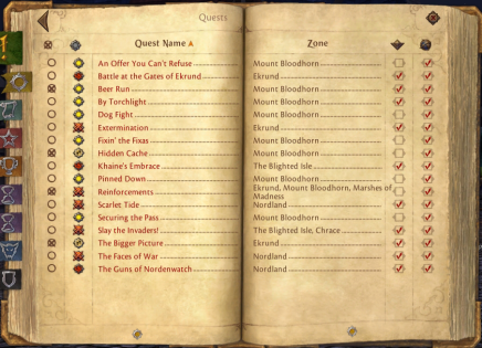 TLQ: Checking over the Quest Log
